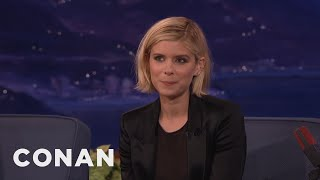 Kate Mara's British Boyfriend Accidentally Dented The Vince Lombardi Trophy  - CONAN on TBS