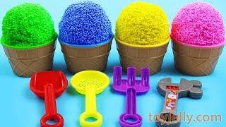 Play Foam Ice Cream Cups Kinder Joy Surprise Eggs Toys Nursery Rhymes Baby Songs Fun for Kids