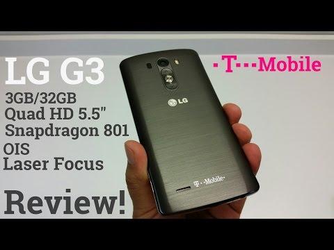 LG G3 T-Mobile 3GB/32GB OIS+Laser Focus Quad HD 5.5
