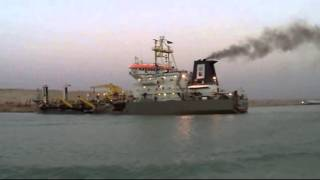 Dredging 75% of the new Suez Canal, May 24, 2015