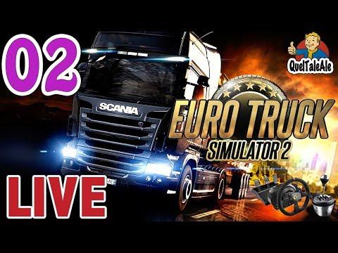Euro Truck Simulator 2 - Gameplay ITA - T300 + TH8A - LIVE#02 - In giro per l'Europa [1/2]