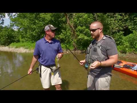Elkhorn Creek Smallmouth Bass Fishing With Canoe Kentucky