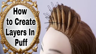 How To Create Layers In Puff || Recreating Kashee's Puff Hairstyle || Easy Hairstyles for Everyday