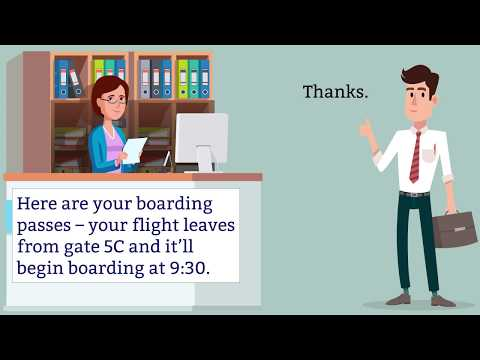 Booking flights and flying - Learn English through conversation