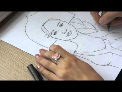 Как нарисовать василису прекрасную поэтапно карандашом
