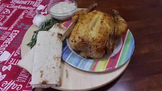 Как приготовить ароматную курицу на чесночной подушке и сырно чесночным соусом. Очень вкусно!
