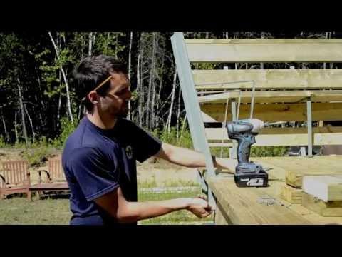 Bench Bracket Installation Installation D Un Support De