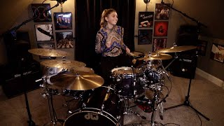 """QUEEN """"Crazy Little Thing Called Love"""" (Drum Cover)~Brooke C~"""
