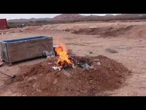 Burn Pit For Trash and Yard Waste