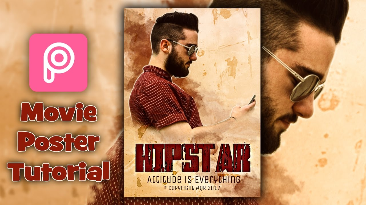 Poster design tutorial - Picsart Editing Tutorial Hipster Movie Poster Designing Hd