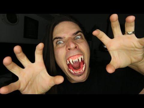 Halloween Vampire Fangs GLOW IN DARK - DIY