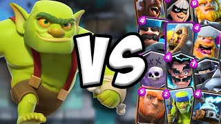 Goblin Cage GAMEPLAY vs All Cards | Clash Royale