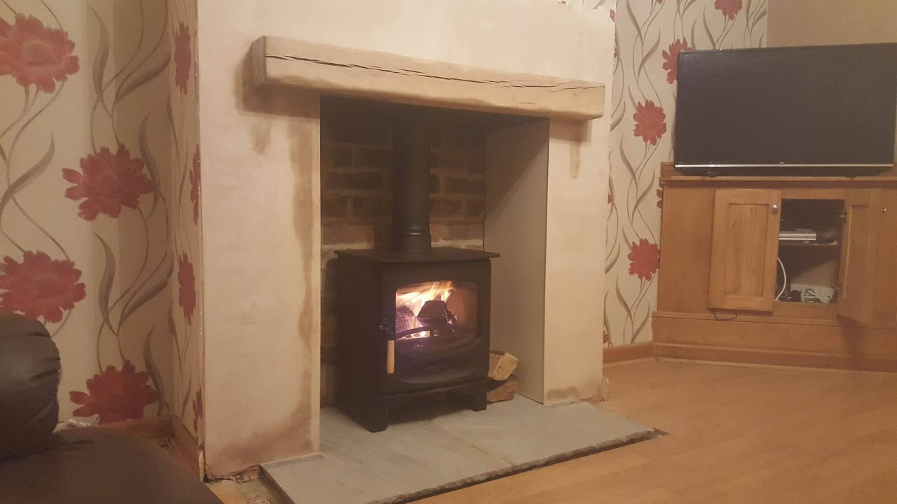 how to install a charnwood c5 wood burning stove bromsgrove youtube