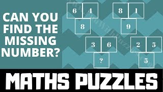 Math Puzzles with Answers |  Missing Number Maths Brain Teasers