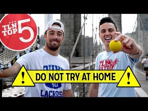Playing Lacrosse on the BROOKLYN BRIDGE  TLN Top 5