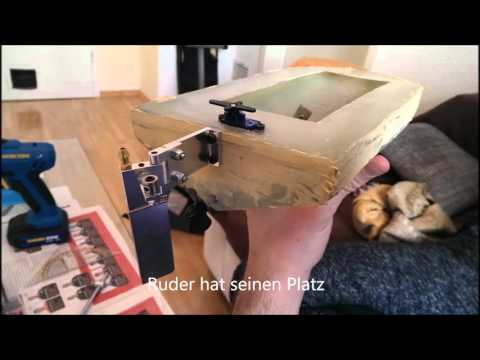 GFK RC Boot bauen, how to build a GFK boat, Modellbau
