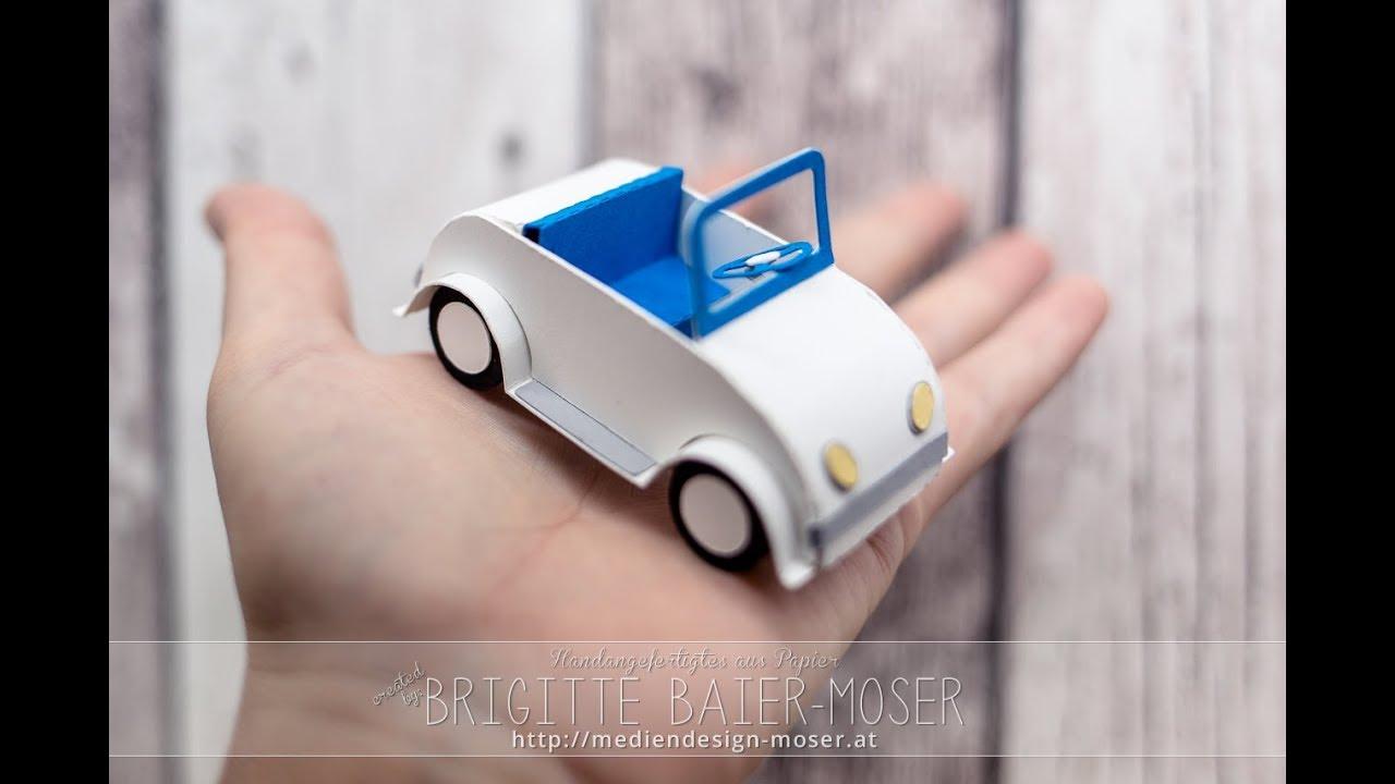 Cabrio Aus Papier Mit Silhouette Cameo