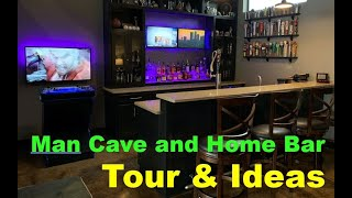 Man Cave and Home Bar Tour - Man Cave Ideas and Tour