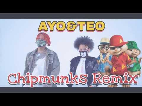 AYO & TEO - ROLEX (Chipmunks Remix) 2018