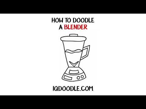 How to Draw a Blender (drawing tips)