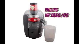 Обзор и демонстрация работы соковыжималки Philips HR183202 Viva Compact Collection