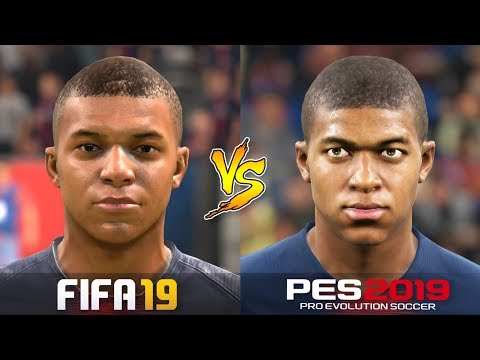 FIFA 19 Vs. PES 2019 | All Famous Player Faces | Gameplay Comparison