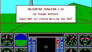 Helicopter Simulator gameplay (PC Game, 1987)