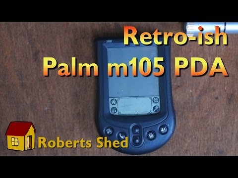 The Palm m105, a retro-ish PDA from 2001.