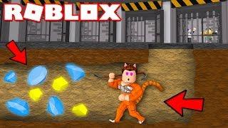 Roblox | ĐÀO HẦM TRỐN NGỤC HỐT ĐƯỢC VÀNG KIM CƯƠNG - Prison Escape Simulator | KiA Phạm