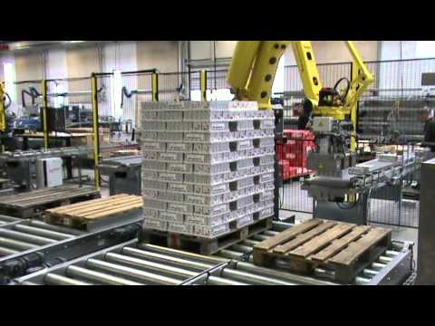 Fully automatic robot palletizing system