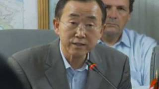 Secretary-General Ban Ki-moon in Haiti