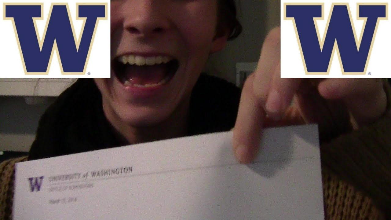 Alexis UW Acceptance Letter Opening