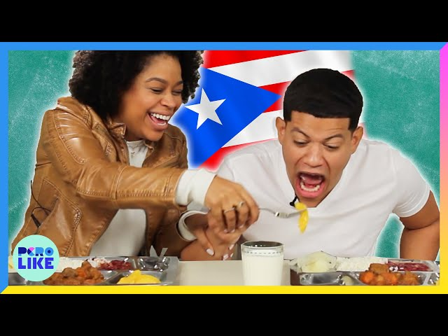 Latinos Try Puerto Rican School Lunch