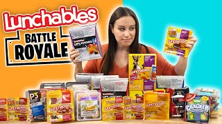 Ranking ALL THE Lunchables in our Grocery Store