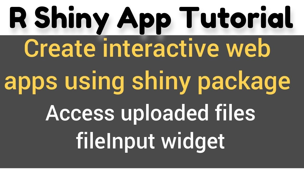 R Shiny App Tutorial #15(c) | fileInput() | how to upload and access  multiple CSV files in R Shiny