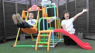アンパンマン おもちゃ ブランコパークDX ジャングルジム 滑り台 付き Anpanma Slide Swing Toy thumbnail