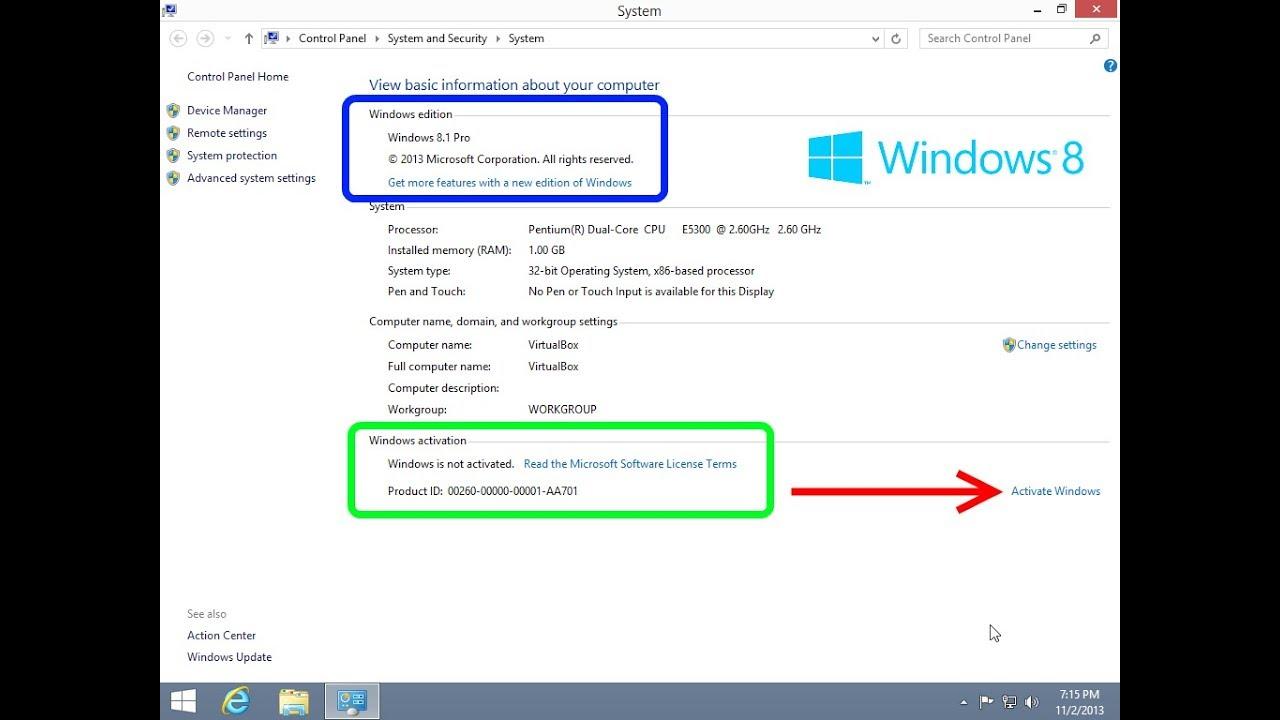 change windows 8.1 product key