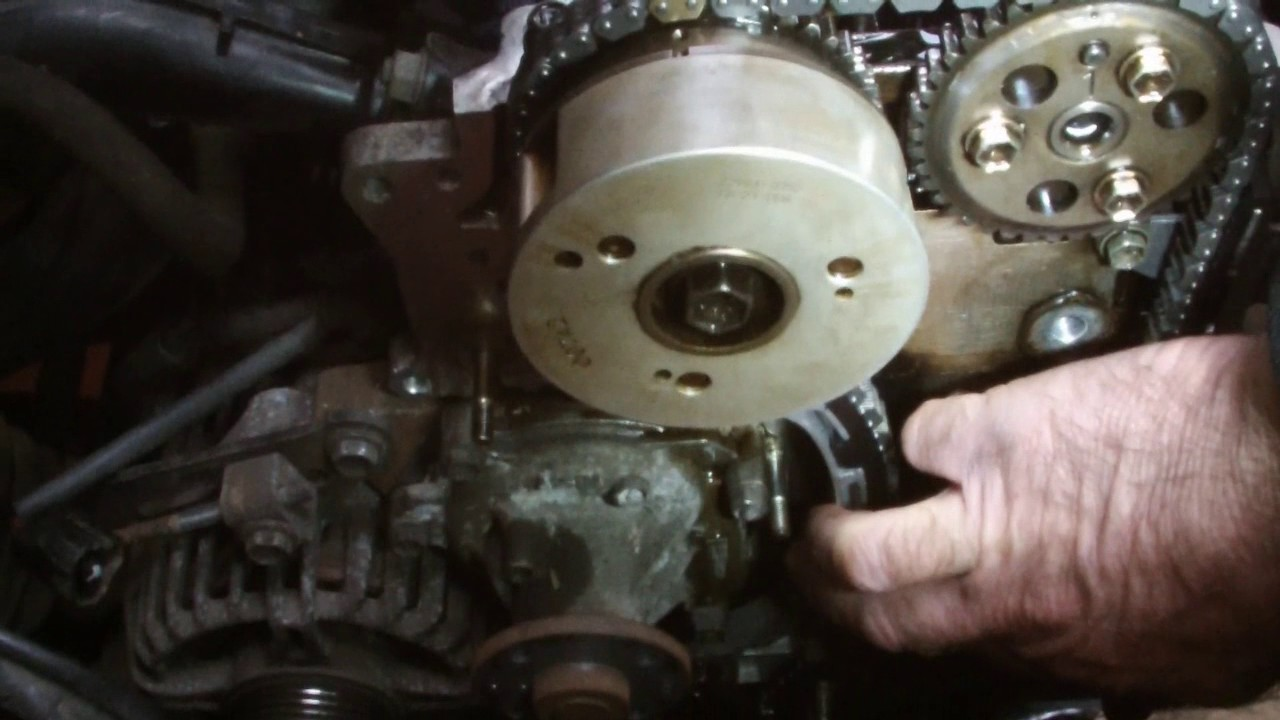 TOYOTA TIMING CHAIN REPLACMENTpt3  YouTube