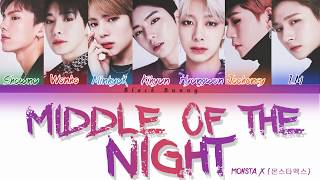 MONSTA X (몬스타엑스) - Middle Of The Night (Color Coded Lyrics /Eng)