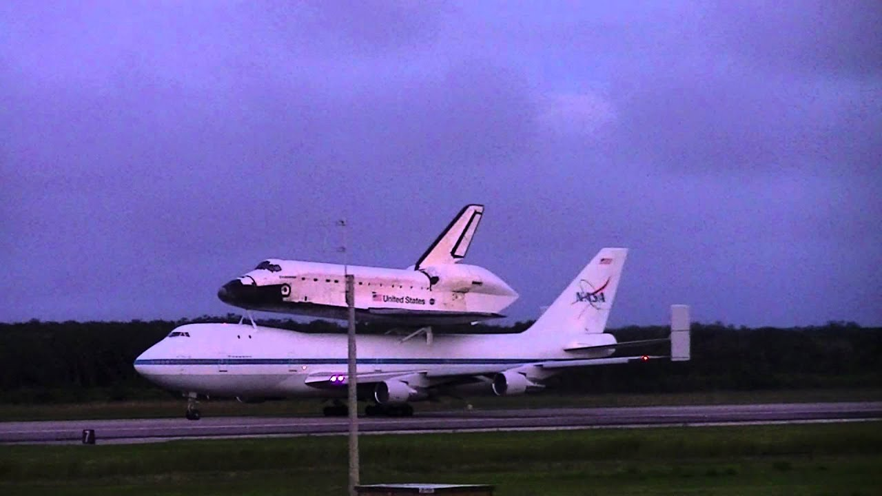 Shuttle Carrier Aircraft Takes Off From KSC With NASA's ...