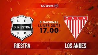 Deportivo Riestra vs Los Andes full match