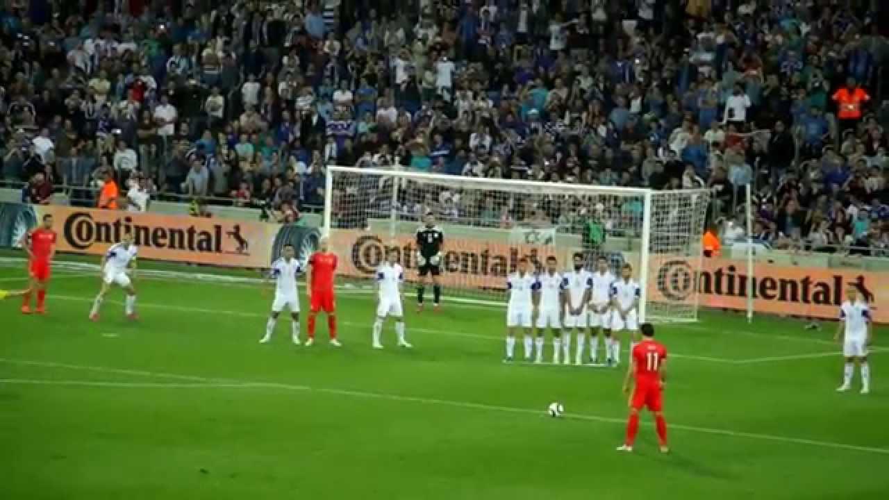 gareth bale amazing free kick israel vs wales 1080p
