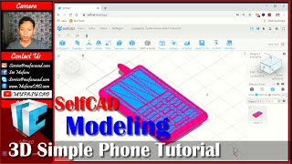 SelfCAD 3D Modeling Phone Tutorial With Edge And Vertex Modifier