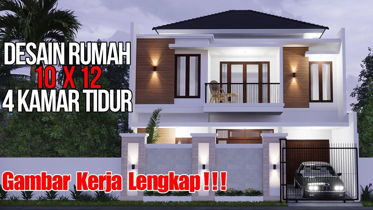 Desain Rumah Minimalis 2 Lantai Di Lahan 10x12 M2 Desain Ini Sudah Jadi
