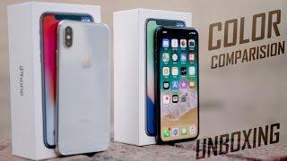 iPhone X Dual Unboxing + Color Comaprision !!