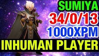THE MOST PERFECT GAMEPLAY EVER!! - SUMIYA 34/0/13 1000XPM INVOKER - Dota 2