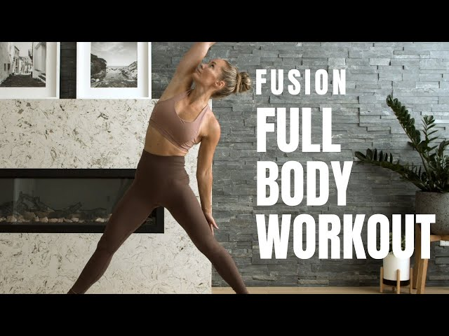 Yoga Inspired // FULL BODY WORKOUT // No Equipment, No Jumping!