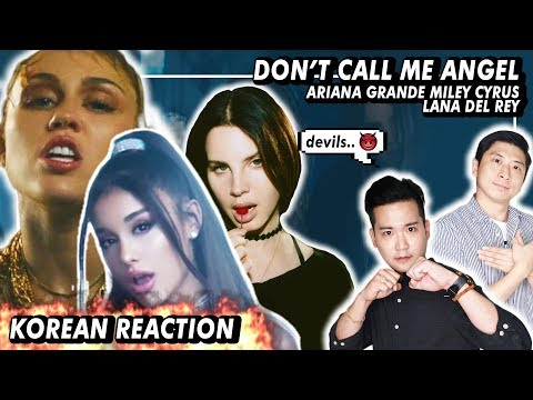 🔥(ENG)/ KOREAN Rappers / react to Ariana Grande, Miley Cyrus, Lana Del Rey - Don't Call Me Angel🔥