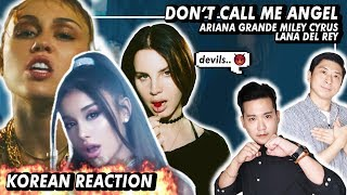 (ENG) KOREAN Rappers react to Ariana Grande, Miley Cyrus, Lana Del Rey - Dont Call Me Ang ...