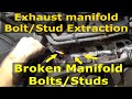 Exhaust manifold Broken Bolt extraction Dodge Hemi